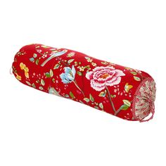 Discover the Pip Studio Morning Glory Red Neckroll - 22 x 70cm at Amara
