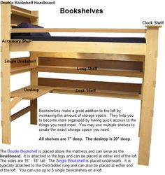 College Loft Bed Plans Free | Headboard for Loft Bed Bunk Beds College Bed Lofts