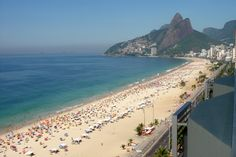 Copacabana beach is the most beautiful and curvy beaches of the world that have a wide and gentle stretch.