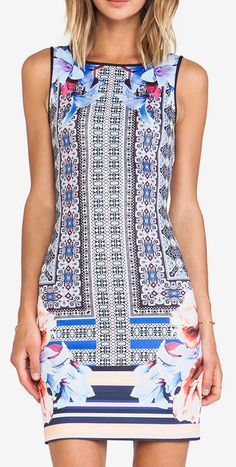Clover Canyon Byzantine Scarf Neoprene Dress in Multi