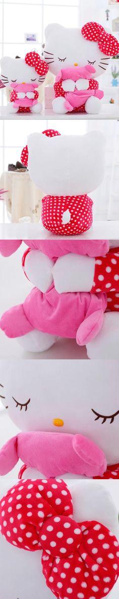 40cm Mini Hello Kitty Stuffed Plush Toy Cawaii KT Dool Kids Toy Girl Birthday Lovers Christmas Present Free Shipping