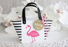 Stampin Up! - Handtasche - Handbag - Bag - Beachbag - Strandtasche - Box - Goodie - Give Away - Gastgeschenke - Verpackung - Schachtel - Give Away - Envelope Punch Board - Stanz und Falzbrett für Umschläge - Stempelset Pop of Paradise - Pink mit Pep ☆ Stempelmami