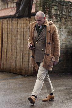 953befe71172c Outerwear    Cardigans    Must Italian Duffle Lambswool Knit Hood-Coat 70 -  GUYLOOK Men s Trendy Fashion Clothing Online