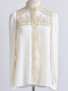 Paneled Chiffon Shirt