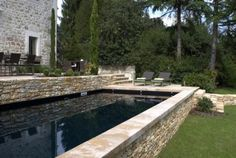 small dipping pool in terrace garden Terrace Garden, Water Garden, Dipping Pool, Mountain Photos, Small Backyard Pools, Exterior, Outdoor Living, Outdoor Decor, Cool Pools