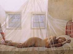"Andrew Wyeth ""Helga daydream"".  I find Wyeth's Helga series so moving, she is so real and so beautiful."