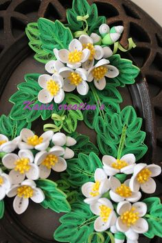 Creative blog: Sweet Mock-orange 3D flowers (quilling)