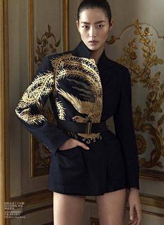 VOGUE CHINA DECEMBER 2012 'Oriental Tales' Model: Liu Wen Photographer: Karim Sadli Stylist: Alastair McKimm