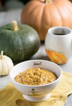 Easy Vegan Overnight Pumpkin Ginger Oats made with Nancy's Organic Cultured Soy - eat them cold or hot depending on the weather that day!
