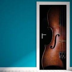 Door Cover Violin Violino Vinyl Door Sticker Adesivo da Porta