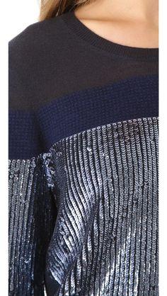 3.1 Phillip Lim Sequin Stripe Pullover