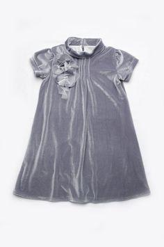 Нарядное платье для девочки из серого бархата купить в Киеве, Харькове, Днепропетровске доставка по Украине