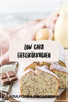 Soulfood LowCarberia Eierlikörkuchen Diesen leckeren Kuchen gibt es jetzt auch in gesund. Es ist ein Rührkuchen ohne Mehl, stattdessen mit Mandelmehl und Kokosmehl. Der luftig-lockere Teig ist mit hausgemachten zuckerfreien Eierlikör und zartschmelzenden Schokostückchen verfeinert - er schmeckt himmlisch und ist LowCarb, Keto geeignet, Ohne Zucker sondern mit Xylit gesüßt und glutenfrei. Mega lecker und ihr könnt ihn jetzt bestellen und bekommt ihn frisch gebacken nach Hause! Low Carb Restaurants, Low Carb Backen, Low Carb Desserts, Bread, Food, Gluten Free Cakes, Food Food, No Sugar, Healthy