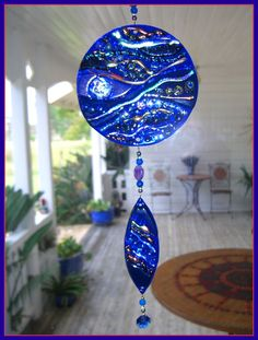 Fused glass window art