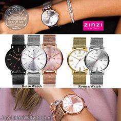 Zinzi Retro en Roman horloges #watches #horloges #juwelierswebshop