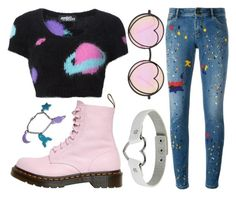 """Thirteen"" by naturestar ❤ liked on Polyvore featuring Jeremy Scott, Dr. Martens, Alice + Olivia and Betsey Johnson"
