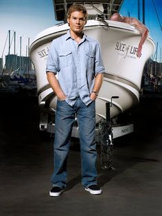Dexter in front of his boat Slice of Life