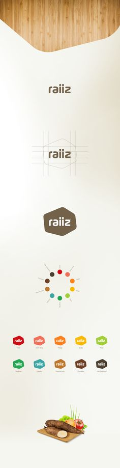 Raiiz on Behance - great way to present a logo