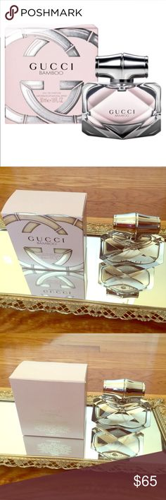 Gucci Bamboo eau de parfum spray 1.6 fl oz New in box Gucci Bamboo parfum spray 1.6 fl oz. A perfect gift for yourself or any perfume lover in your life! Notes: Italian bergamot, orange blossom, Casablanca lily, ylang-ylang, sandalwood, Tahitian vanilla, amber. Gucci Accessories