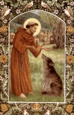 St. Francis and Wolf
