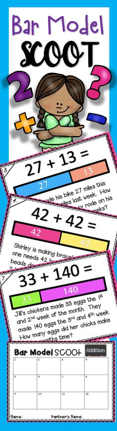Scoots are my favorite math center! I can tape up the laminated cards in the morning and print the answer sheets...DONE! I created this one during chapter 10 (Mental Math) in our Math in Focus curriculum.