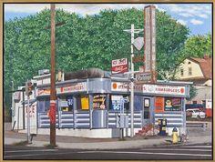 John Baeder-Orange Circle Diner (East Orange, New Jersey)
