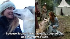 Sophie Turner aka Sansa adopted Lady aka Zunni in real life. My heart is not broken anymore!