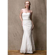 Women's Luxury Pure Bride Fish Tail Wedding Dress - USD $ 89.69