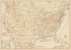 United States map with place names replaced by original meanings [6 pictures]...