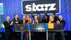"""STARZ [STRZA], a leading integrated global media and entertainment company, visited the NASDAQ MarketSite in Times Square after a successful spin-off from Liberty Media Corporation on 1/25/13.  Starz CEO, Chris Albrecht, along with stars from the cast of the STARZ Original series, """"Spartacus,"""" Liam McIntyre, Lucy Lawless, Manu Bennett, Peter Mensah, Dustin Clare, Todd Lasance, and creator Steven S. DeKnight, rang the Opening Bell in honor of the occasion."""