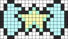 Pearl Bow Perler Bead Pattern / Bead Sprite