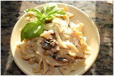 Handmade Fresh Pappardelle with Wild Mushroom & Balsamic Cream Sauce