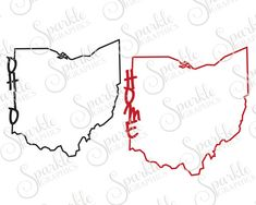 Ohio  Home Cut File Ohio SVG Football SVG Ohio Football Home State  Ohio Pride Svg Dxf Eps Png Silhouette Cricut Cut File Commercial Use