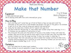 Teaching Maths with Meaning: Math Game Monday - Week 10!