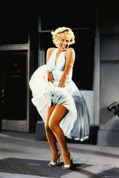 The iconic moment from THE 7 YEAR ITCH....Marilyn Monroe no one could wear a white dress quite like you could.
