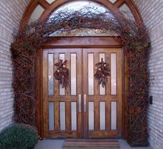 Birch branch archway rustic holiday decor by Nature of Design with Janet Flowers