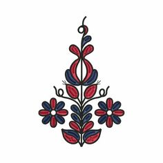 Výšivka Zemplín 13x20 cm čierna | slovenský folklór Folk Embroidery, Folklore, Diy And Crafts, Projects To Try, Ornaments, Sewing, Tattoos, Inspiration, Decor