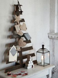 Utiliza un palé para hacer un árbol de Navidad