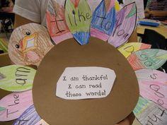thankful sight word turkey