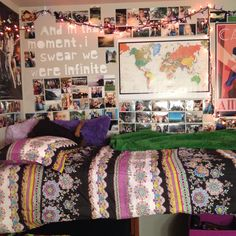 My amazing dorm room! I made almost all of it! #dorm #college