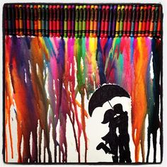 My melted crayon project!!