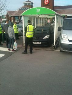"""""""The lengths we go 2 for a turkey"""": Asda supermarket TROLLEY BAY parking is a viral hit Scottish News, Watch The World Burn, Public Service Announcement, People Of Walmart, Meanwhile In, Asda, Humor, First World, Make Me Smile"""