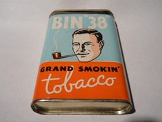 """Vintage ***rare*** bin """"38"""" tobacco tin*** check it out > very nice"""
