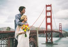 This Couple Eloped On The Golden Gate Bridge (And The Photos Are Stunning!I don't think I would ever elope but I live their pictures and their story is so sweet! Romantic Love Stories, Destination Wedding Locations, Wedding Shoot, Wedding Ideas, Wedding Stuff, Wedding Inspiration, Ceremony Backdrop, Wedding Planning Tips, Portrait Inspiration