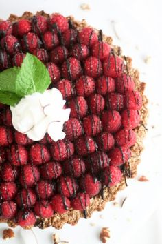 Raspberry Chocolate Pie that's actually good for you!
