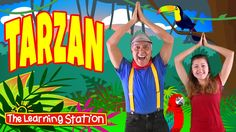 "Tarzan by The Learning Station is a ""repeat after me"" action and dance song that kids love. Your children will have a blast following the leader with the fun movements and actions. Perfect for indoor recess, circle time, morning meeting, and brain breaks for preschool, kindergarten, and elementary school students."