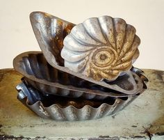 vintage baking tins from Europe, aged to perfection! Available at AtticAntics