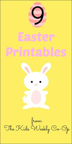 9 Easter Printables from The Kids Weekly Co-Op | Mess For Less