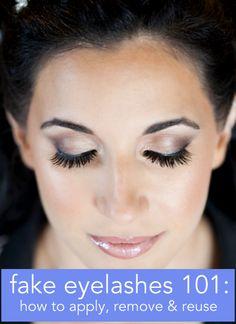 fake eyelashes how to