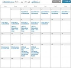 Internet Marketing Seminar Calendar